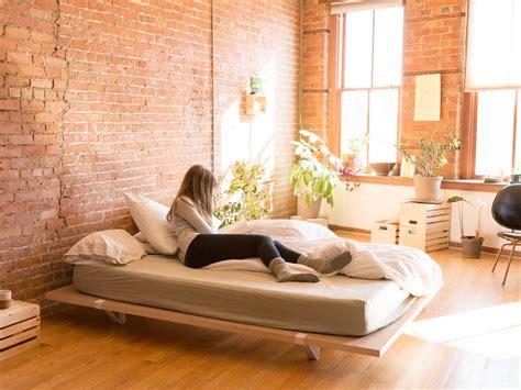 minimal bed frame a minimal platform bed for city living design milk