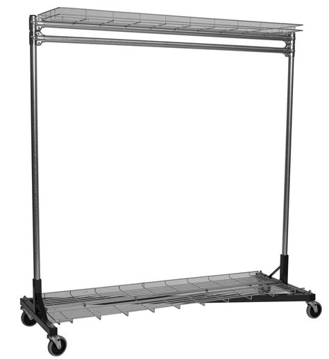 clothes rack with shelves rolling clothes rack 3 ft with shelves in clothing