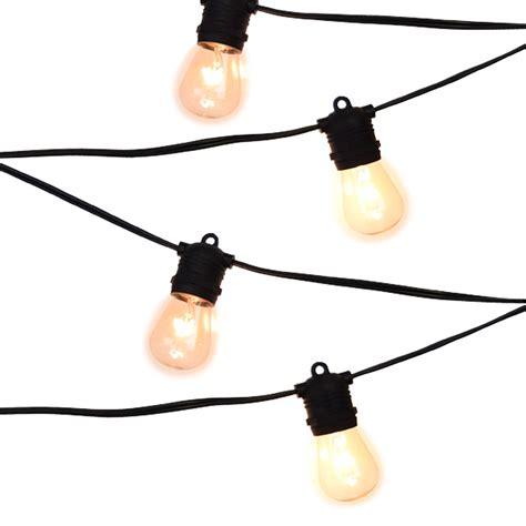 string light sockets bistro string light black 24 sockets 54ft commercial
