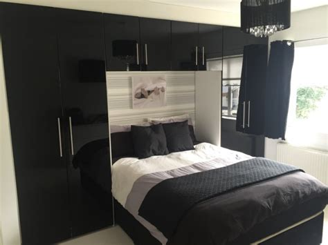 fitted bedroom furniture sale black high gloss fitted bedroom wardrobes for sale in