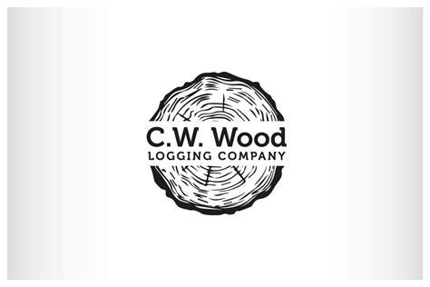 woodwork company masculine bold logo design for c w wood logging company