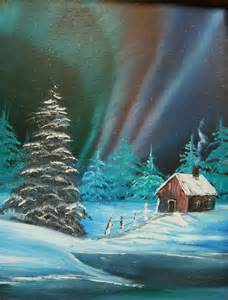 bob ross northern lights painting for sale acrylics and canvases on