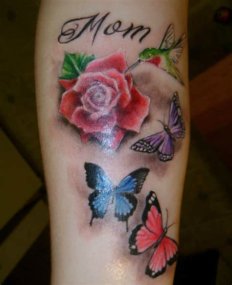 butterfly with rose tattoo for mom sheclick com