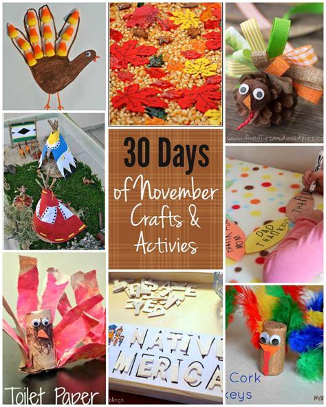 november craft ideas for 30 days of activities for november free activity