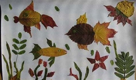 crafts with leaves for 15 cool applique ideas from autumn leaves kidsomania