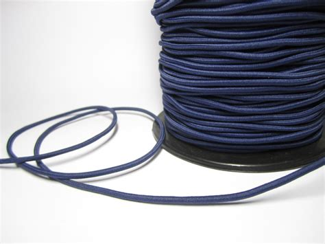 how to string on stretch cord fabric elastic cord in navy blue 3 yds elastic cord in