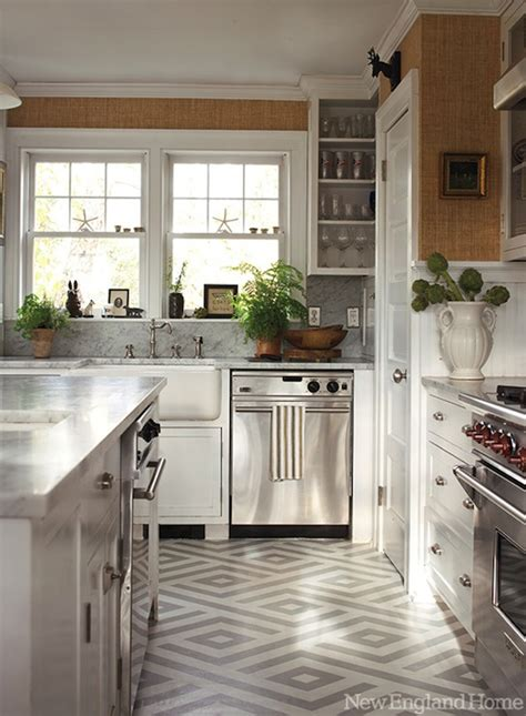 painted kitchen floor ideas geometric painted floor contemporary kitchen new home