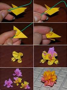 origami step by step flowers kusudama curl flower folding origami
