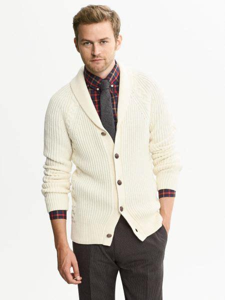 cable knit shawl collar cardigan banana republic cable knit shawl collar cardigan
