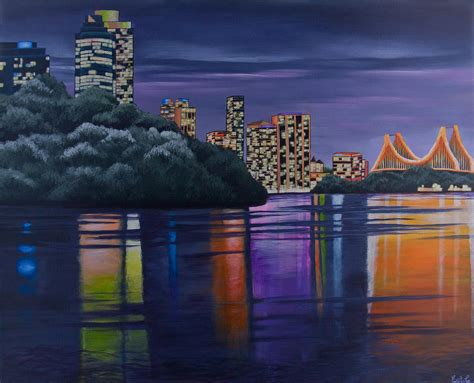 paint nite cities city lights painting by ellie st george