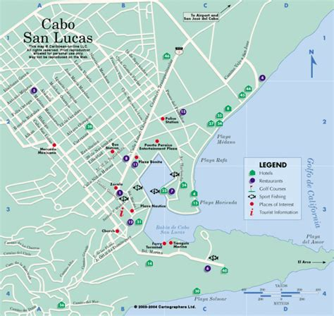 cabo san lucas mapa monster designs los cabos san lucas map