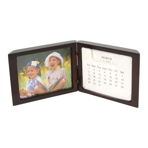 standing desk calendar standing desk calendar with small picture frame 3 1 4 quot x