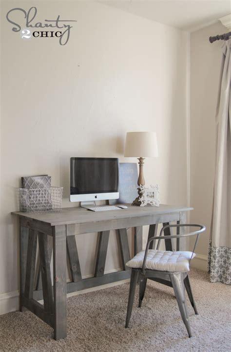 diy rustic desk free woodworking plans diy desk
