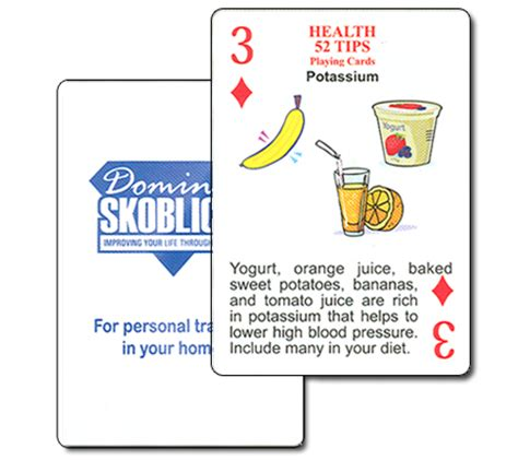 Health Tips Cards Custom Cards With A