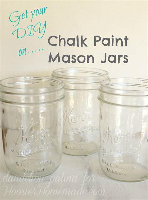 chalk paint jars diy chalk paint jars dandelion patina