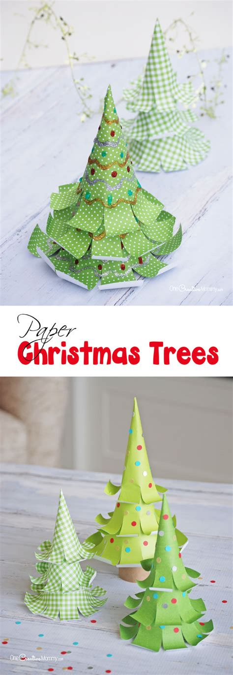 tree paper craft the cutest paper trees onecreativemommy