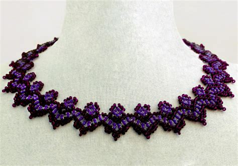 bead magic free pattern for beaded necklace of violet magic
