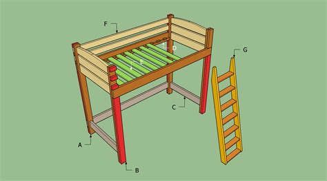 how to build a loft bed frame how to build a loft bed with stairs howtospecialist