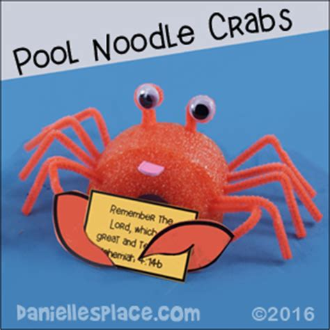 vacation bible school crafts for crab holding a bible verse or note card vacation bible