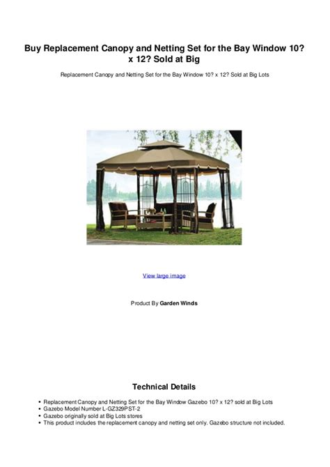 Buy Canopy by Buy Replacement Canopy And Netting Set For The Bay Window