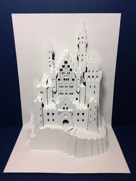 how to make a card castle popup castles and neuschwanstein castle on
