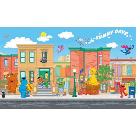 Sesame Street Wall Mural roommates sesame street xl wall mural walmart com