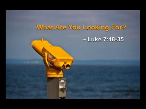 what are for quot what are you looking for quot luke 7 18 35