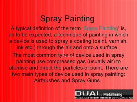 spray paint definition spray painting