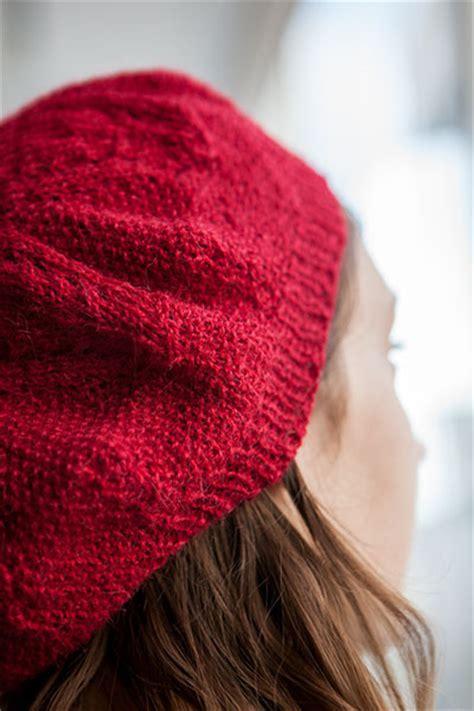 knit picky septafleur beret knitting patterns and crochet patterns