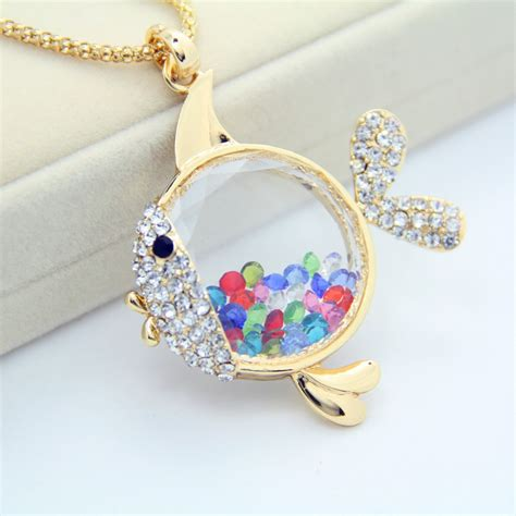 charms and pendants for jewelry gold plated rainbow birthstone fish memory magnetic glass