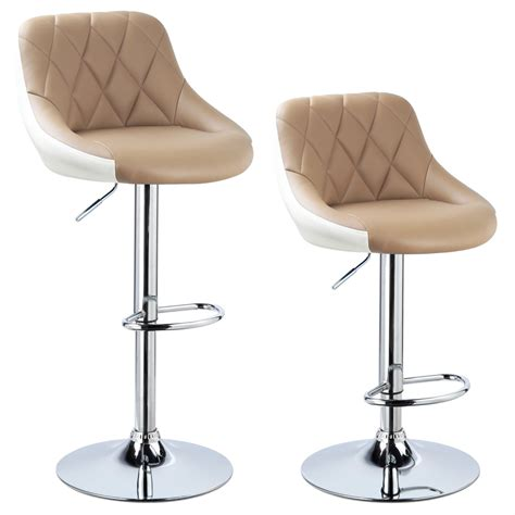 swivel bar chairs with backs 2 x bar stools faux leather breakfast kitchen swivel stool
