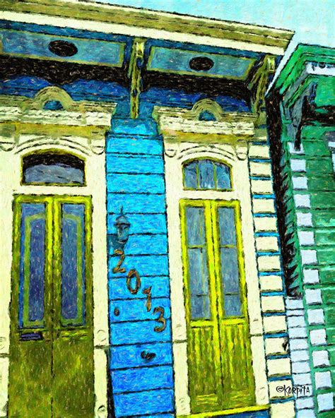 new orleans colorful houses colorful new orleans shotgun house photograph by