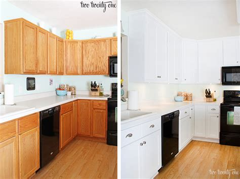 kitchen cabinet painting before and after painting laminate cabinets before and after cabinets