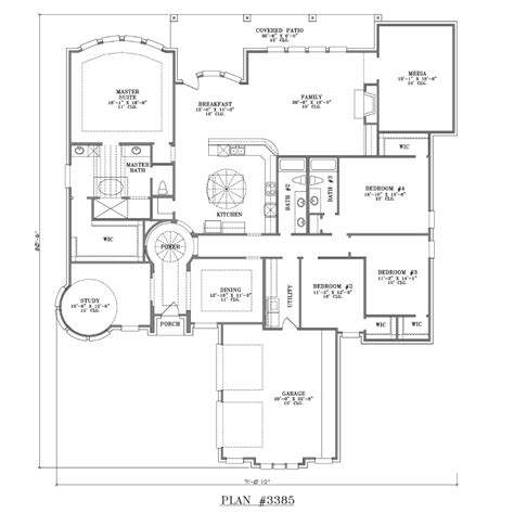 floor plans for homes one story 4 bedroom one story house plans marceladick