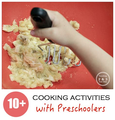 cooking crafts for cooking with recipes from teaching 2 and 3 year olds