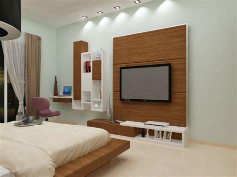 woodwork in bedroom bedroom with woodwork for tv unit apartment villa