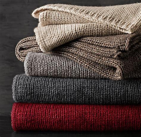 italian knitting wool italian wool alpaca ribbed knit throws remodelista