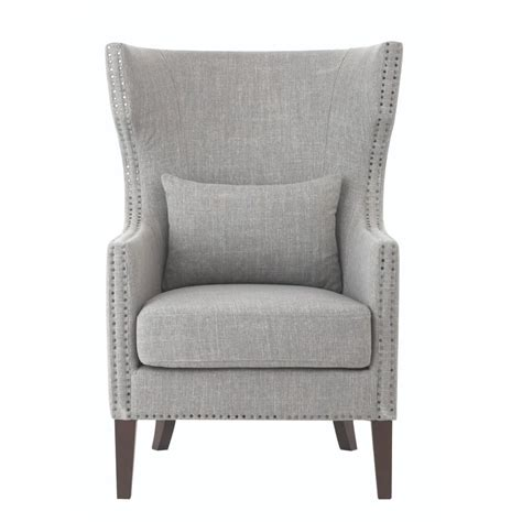 Home Chair by Home Decorators Collection Bentley Smoke Grey Linen