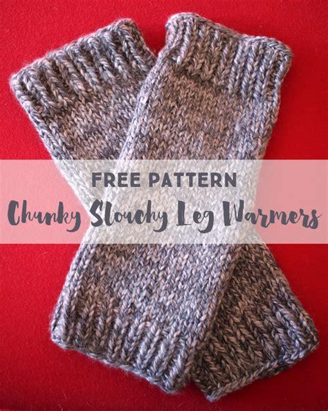 knitted warmers free patterns free knitting pattern chunky slouchy leg warmers leg