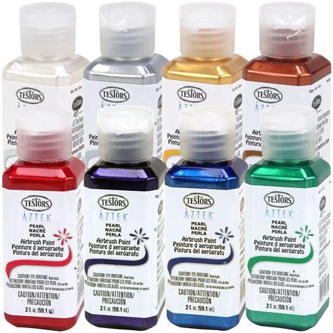 acrylic paint for airbrush 8 color 2oz testors aztek premium pearl acrylic airbrush