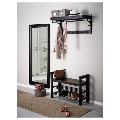 ikea bench with storage hemnes bench with shoe storage black brown 85x32 cm ikea