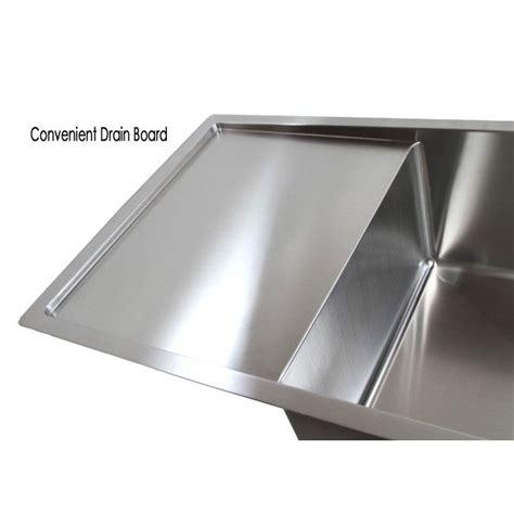 kitchen sinks with drain boards 36 inch stainless steel undermount single bowl kitchen