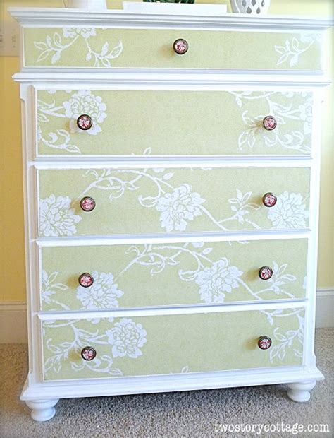 can you decoupage with wallpaper wallpaper dresser tutorial complete with don ts