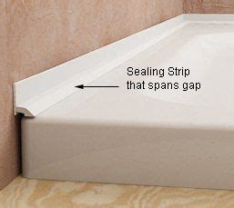 shower bath seal sealing the gap between wall tiles and bath or shower