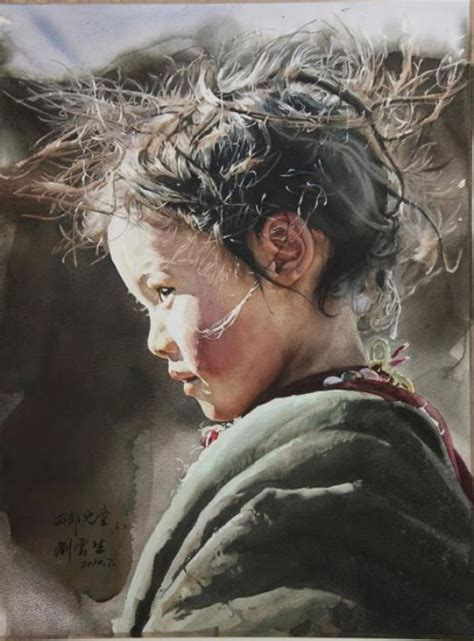 top artist best watercolor portraits by artists