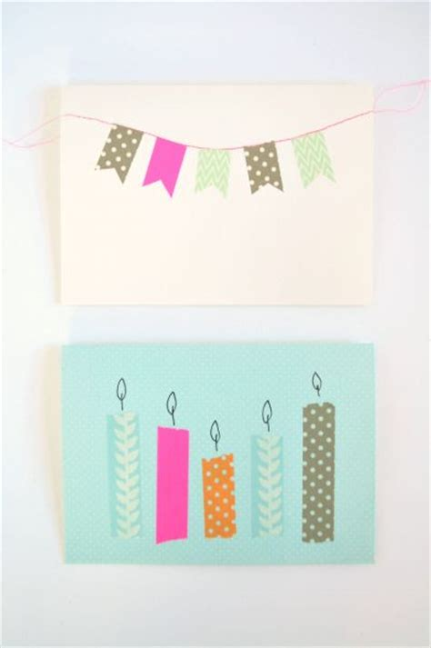 own birthday cards washi birthday cards and washi on