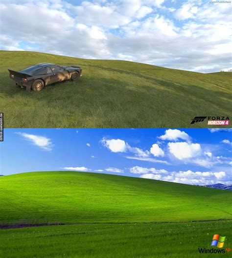 Car Wallpaper For Windows Xp by Microsoft S Windows Xp Default Wallpaper Found In Forza