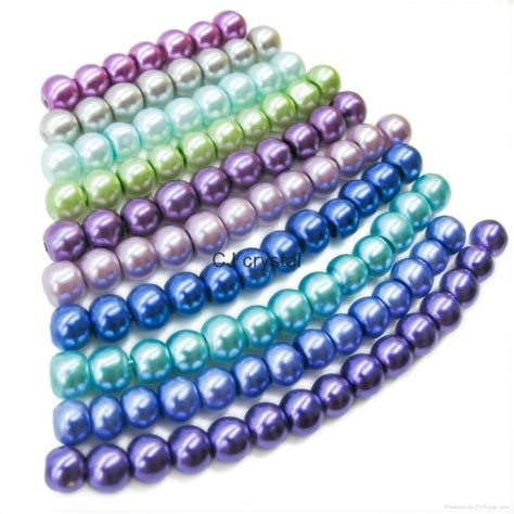 jewelry material smooth surface glass pearls jewelry diy jewelry material