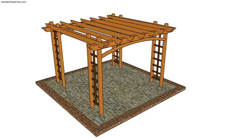 pergola blueprints free bench arbor plans free garden plans how to build