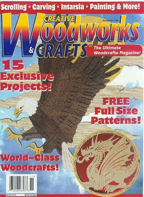 creative woodworking magazine creative woodworks crafts issue 67 1999 11 scroll